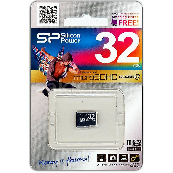 Карта памяти microSDHC Silicon Power 32 Gb Class 10