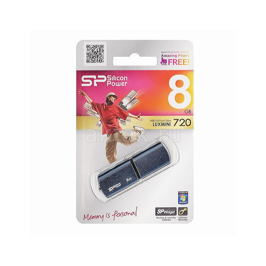 USB флешка 8 Gb Silicon Power LuxMini 720 бронзовый