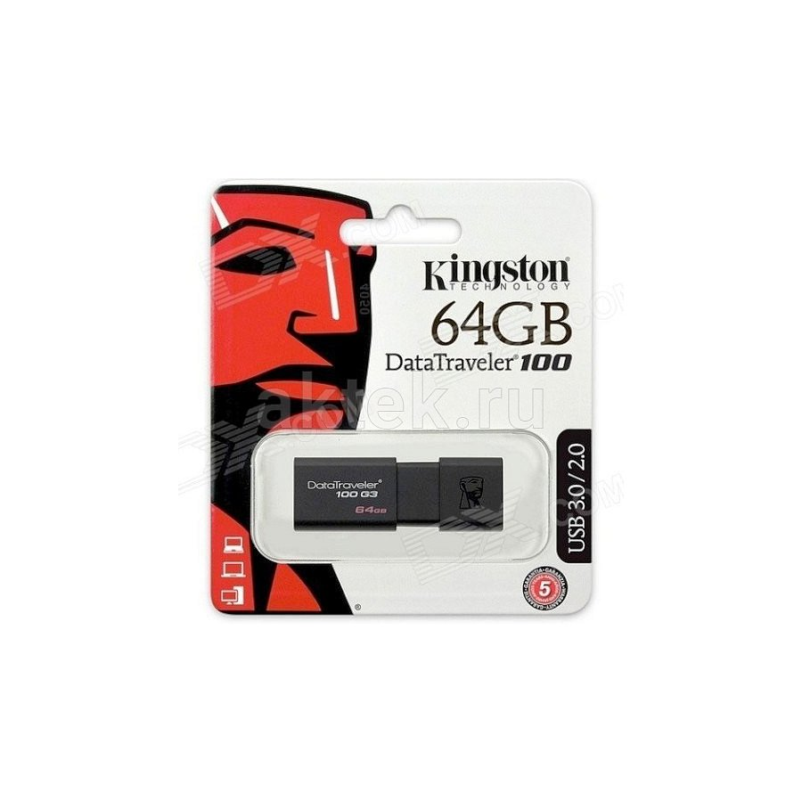 USB флешка Kingston Data Traveler 100G3 64Гб